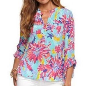 LILLY PULITZER   Tunic Trippin' & Sippin' Silk